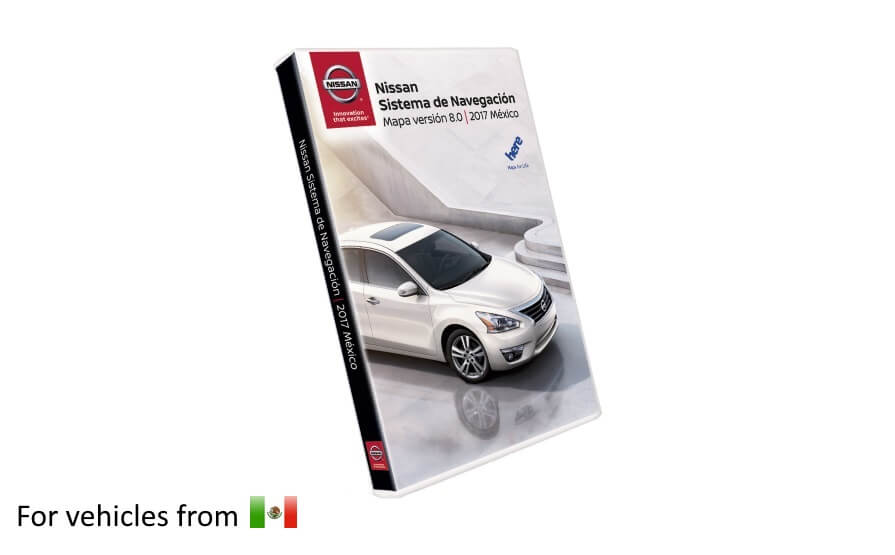 Nissan Navigation Third Gen SD Card Map Update Version 8 for vehicles purchased in MEXICO product photo