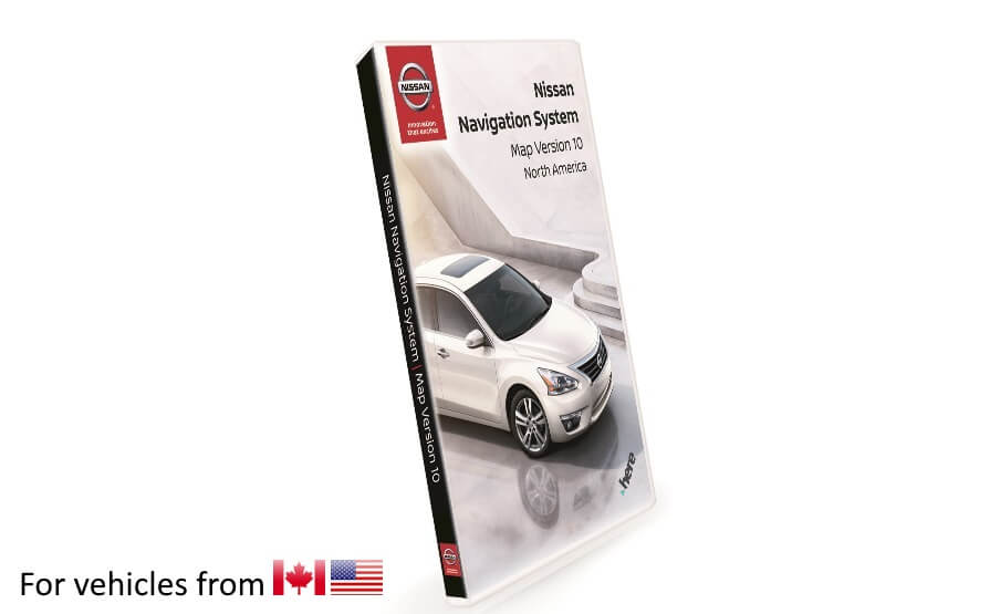 Nissan Navigation Third Gen SD Card Map Update V10 for vehicles purchased in US and Canada product photo