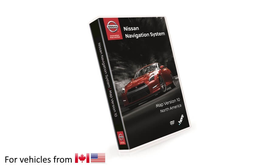 Nissan Navigation Third Generation DVD Map Update Version 10 for vehicles purchased in United States and Canada product photo